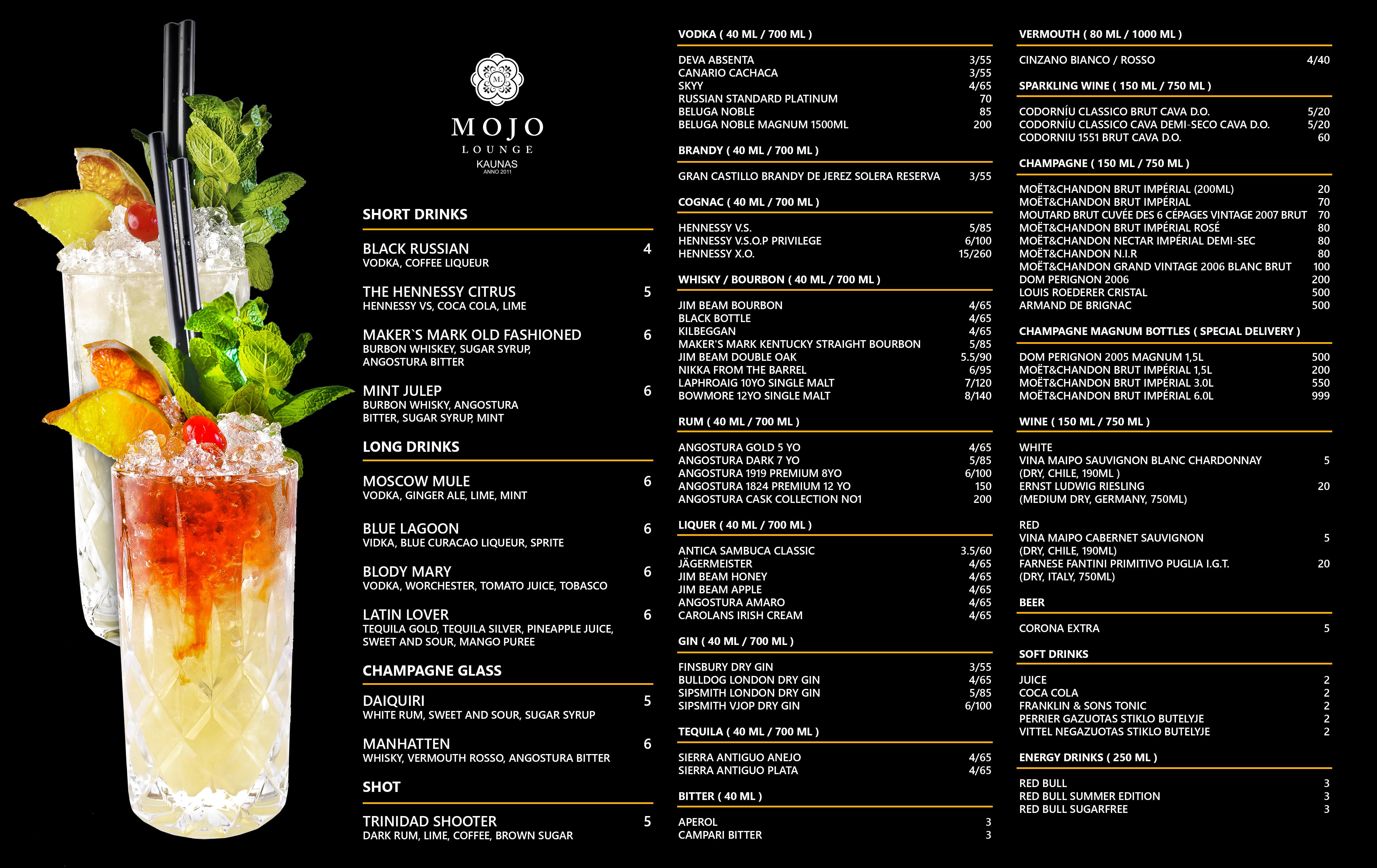 MOJO Lounge   Kokteilių baras / Cocktail and lounge bar